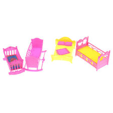 Doll Furniture Rocking Cradle Bed for Barbie Kelly Doll Accessories Girl Gift