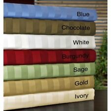 Queen 1000TC Egyptian Cotton Sheet Set/Duvet/Fitted/Pillow Bright Striped Colors