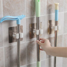 No Trace Wall Mounted Mop Broom Holder Organizer Brush Storage Hanger Tool