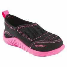 NEW Speedo Kids Toddler Girls Black/Pink Surfwalker Beach Pool Water Shoes M 7-8
