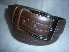 Italy Style Brand Men's Genuine Leather Dark Brown Belt Size S / M / L / XL NEW