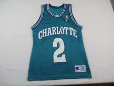 Champion Mens Larry Johnson Charlotte Hornets NBA Jersey 36 Size Vintage Swag