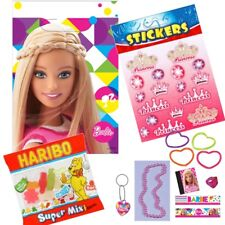 Barbie Sparkle Party Loot Bag Kits Sweets Favours Stickers Sheet