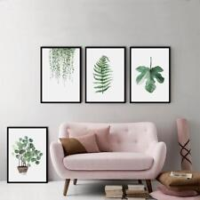 Plants Canvas Art Print Poster Green Leaf Canvas Painting Wall Pictures Best