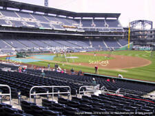 2 tickets Pirates vs Cubs Wednesday 8/1 Section 107 Row C - PNC PARK