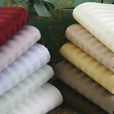 1000 TC 100%Egyptian Cotton Bedding Item Extra Deep Pocket Striped Color Queen