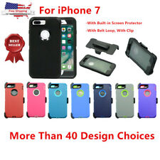 New For iPhone 7 Heavy Duty Defender Case with (Clip fits Otterbox)