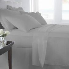 1000TC EGYPTIAN COTTON BEDDING ITEMS SILVER GREY SOLID/STRIPE US KING/CAL KING