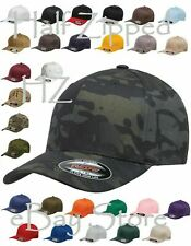 20 Flexfit Structured Twill Fitted Cap Baseball Hat 6277 S-2XL Wholesale