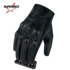 Motorcycle Gloves Goatskin Leather Touch Screen Men Women Moto Glove Electric
