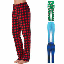 2018 Women Comfortable Flannel Pajama Long Lounge Pants Trousers Sleepwear Xmas