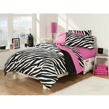 Zebra Print Bedding Twin 30 Piece College Dorm Bed Extra Long Pink Room In A Bag
