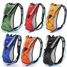 Cycling Backpack Water Bag Hiking Pouch Climbing Hydration Pack With Bladder OY