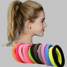10pcs/lot Big Size Candy Colored Quality Elastic Ponytail Holders Accessories