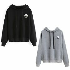 Womens Casual Pullover Hooded Sweatshirt Jumper Hoodie Crop Tops Shirts Sweater