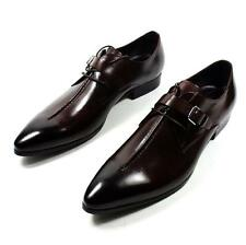 Stylish Men Business Pointy Toe Dress Formal Buckle Lace Up Leather Casual Shoes