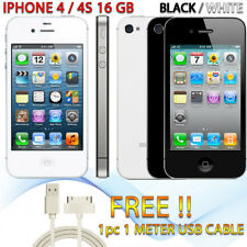 Apple iPhone 4 4S 16GB White Black A1387 Smartphone Unlocked Good Condition AU