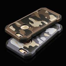 2 in 1 Army Camouflage Case For iphone 7 6 6s Plus SE 5 5s 5G 4 4s Armor Case Fa