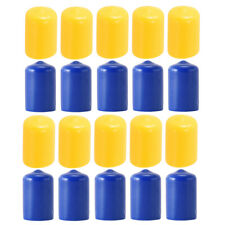 Pack of 10 Pool Cue Stick Tip Protective Billiards Stick Bottom Cover