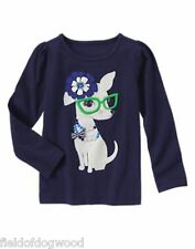 NWT GYMBOREE Spring Prep Puppy Dog Tee Shirt TOP size 4 Girls
