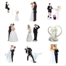 Romantic Bride and Groom Toppers Couple Figurine Wedding Funny Cake Decoration