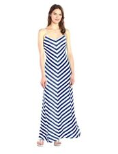 NWT SUSANA MONACO Ink White MAE Striped Maxi Dress Sz XS M  280773F
