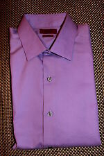 ALFANI MENS FITTED DESIGNER STRETCH DRESS SHIRT PURPLE 14.5/32/33 RP $55.00 NWT
