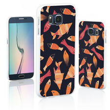 HK- Fish Pattern Phone Back Cover Case for iPhone X 8 Samsung Galaxy S8 A5 Prett