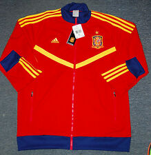 Adidas Men's FEF Spain Track Top Soccer Jacket, G91277, Red, US Size XL