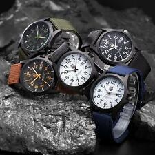 New Mens Military Sports Watch Stainless Steel Analog Army Quartz Wrist Watch 0P