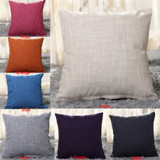 Solid Throw Pillow Case Sofa Waist Cushion Cover Car Home Decor Lounge Square YA