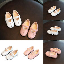 Girls Kids Leather Hollow Sandals Summer Princess Shoes Flat Ankle  Strap Shoes