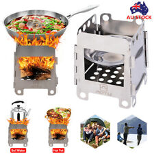 Outdoor Wood Stove Portable Backpacking Folding Camping Cooking Picnic Stove