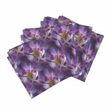 Roses Purple Silk Violet Amethyst Cotton Dinner Napkins by Roostery Set of 4