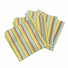 Colorful Stripes Small Orange Yellow Cotton Dinner Napkins by Roostery Set of 4