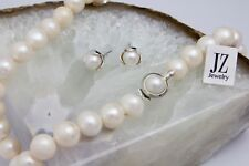 Freshwater Pearl Bridal 12-15 mm  Necklace with Sterling Silver  Pearl Clasp.