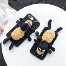 Cute 3D soft Shaun the Sheep dog Doll Toy Plush Case Cover For iPhone X 8 7 Plus