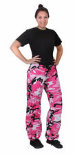 Womens  Army Military PINK Camo Vintage Paratrooper Fatigues Cargo BDU Pants