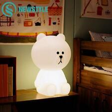 30cm Bear Baby LED Night Light Rechargeable Baby Bedroom Night Lamp  Gift