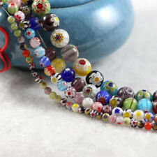 Wholesale Italian Style Murano Glass Spacer Loose Beads Charm Findings 15''