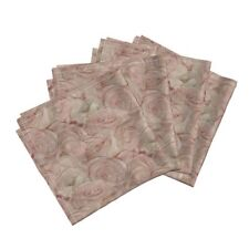 Rose Roses Floral Linen Linen Luxe Cotton Dinner Napkins by Roostery Set of 4