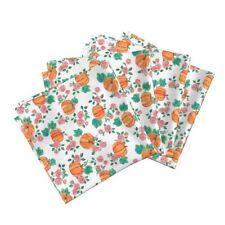 Roses Fall Thanksgiving Floral Cotton Dinner Napkins by Roostery Set of 4