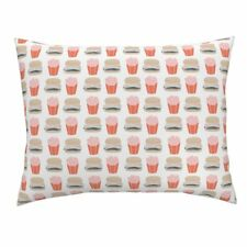 Burger Hamburger Cheeseburger French Fries Fast Food Pillow Sham by Roostery