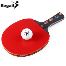 Table Tennis Racket Ping Pong Carbon Blade Rubber Professional