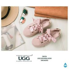 OZWEAR UGG / OB326 Ugg Rihanna Bow Sneaker in Pink Colour Ladies Fashion Shoes