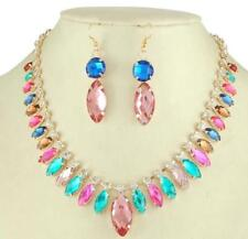 Nice Rhinestone crystal Jewelry set New Necklace Earrings Women free shipping RF