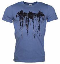 Official Men's Blue Batman Graffiti Logo T-Shirt