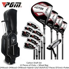 12 piece Golf set mens golf clubs with wheel Bag with Strap putter wedge driver