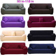 """4-Seater Larger 90""""-118"""" Sofa Cover Couch Stretch Slipcover for L Corner Sofa US"""
