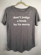 Juniors' Don't Judge a book by its movie Graphic T-Shirt XL NWT